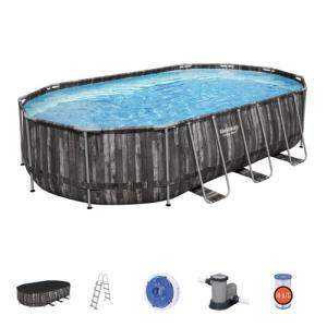 Каркасный овальный бассейн Bestway Power Steel 5611R 610х366х122