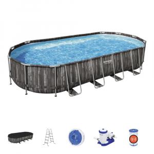 Каркасный овальный бассейн Bestway Power Steel 5611T 732х366х122
