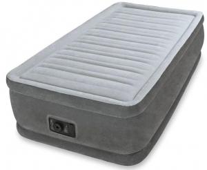 64412 Надувная кровать Comfort-Plush 99х191х46см, встроенный насос 220V