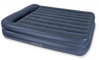 66720 Надувная кровать Pillow Rest Raised Bed152х203х42см с подголовником
