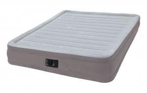 67770 Надувная кровать Comfort-Plush 152х203х33см, встроенный насос 220V