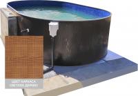 Сборный овальный бассейн ЛАГУНА 73236603 730x366x125 (светлое дерево)