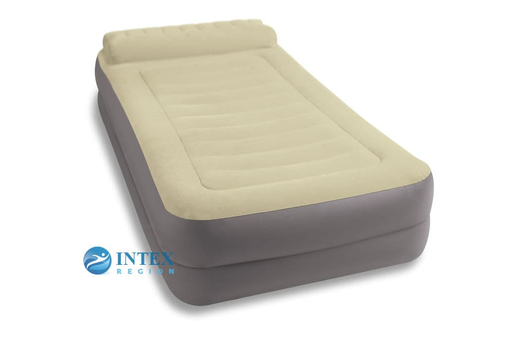 67776 Надувная кровать TAKE ALONG 99х191х47см с подголовн., с насосом 220В