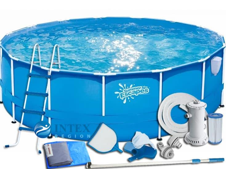 Каркасный бассейн SummerEscapes Р20-1548-В 457x122 Metal Frame