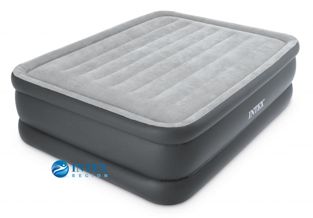 64140 Надувная кровать Essential Rest Airbed 152х203х51см, встроенный насос 220V