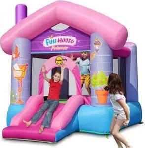 """Детский надувной батут с горкой """"Забавный дом для принцессы"""" HAPPY HOP 9215Р"""