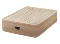 64458 Надувная кровать Ultra Plush Bed 152х203х46см, встроенный насос 220V