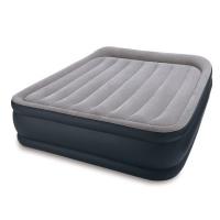 67738 Надувная кровать Deluxe Pillow Rest Raised Bed 152х203х43см с подголовником, встроенный насос 220V