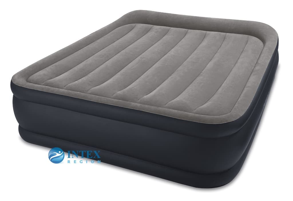 64132 Надувная кровать Deluxe Pillow Rest Raised Bed 99х191х42см, встроенный насос 220V