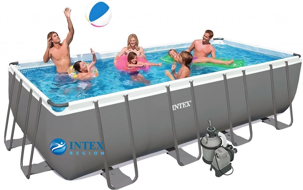 Каркасный бассейн Intex 26356 549х274х132 Rectangular Ultra XTR Frame