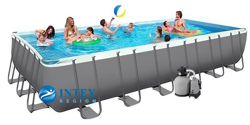 Каркасный бассейн Intex 26368 732х366х132 Rectangular Ultra XTR Frame