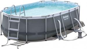 Каркасный бассейн Bestway 56620 427х250х100 Oval Power Steel Pool