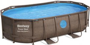 Каркасный бассейн Bestway 56714 427х250х100  Oval Power Steel Swim Vista