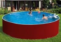 Сборный бассейн ЛАГУНА 30516 круглый 305х125 см (красный)