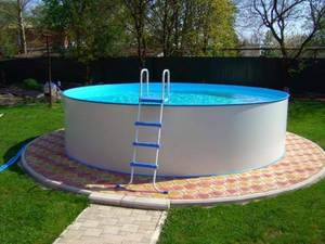 Сборный бассейн ЛАГУНА 24415 круглый 244х125 см (белый)