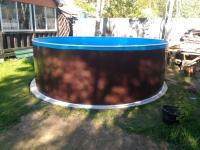 Сборный бассейн ЛАГУНА 24414 круглый 244х125 см (темное дерево)