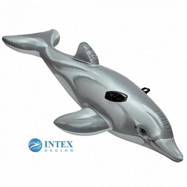 Надувная игрушка Дельфин Intex арт.58535 175Х66см, от 3 лет