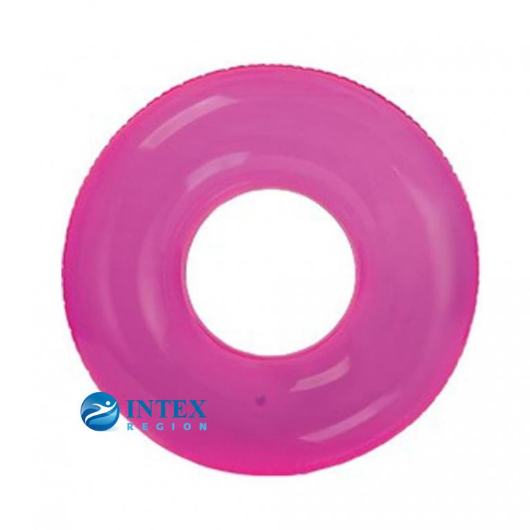 Надувной круг Transparent Intex арт.59260 76см, 3 цвета от 8 лет