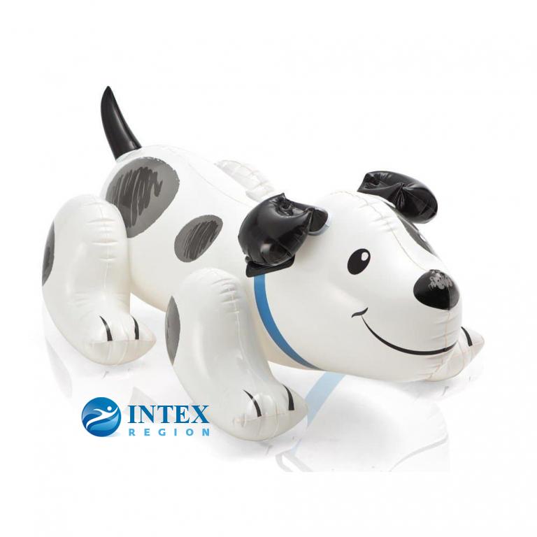 Надувной плотик Собака с ручками Intex арт.57521, 138х91см, от 3 лет