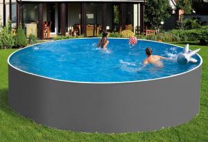 Сборный бассейн ЛАГУНА 36619 круглый 366х125 см (серый)